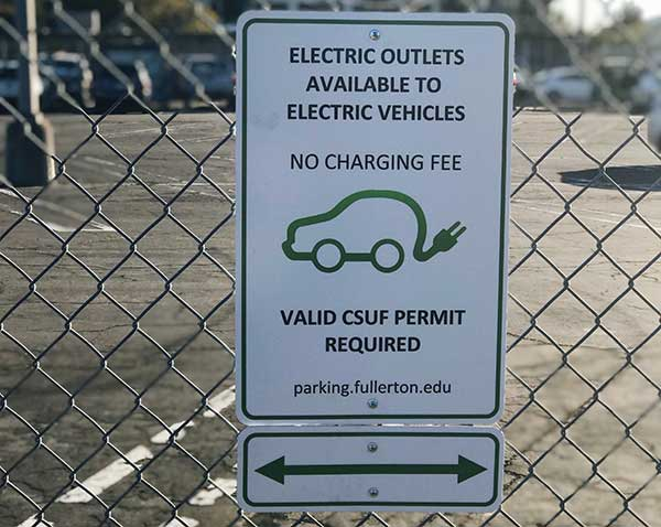 Electric Vehicle Permit Sign